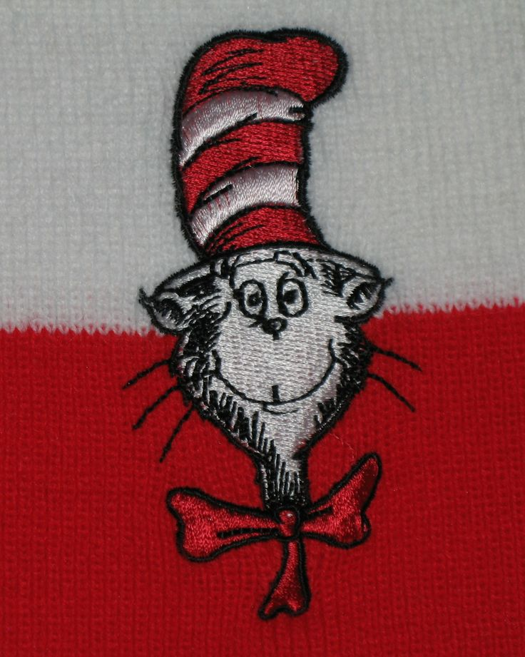 Love this Dr. Seuss' Cat in the Hat red and white striped Official Movie Merchandise winter scarf. It's fun! #drseuss #catinthehat #scarf   #ck
