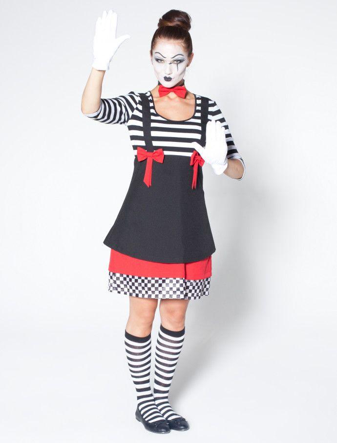Pantomime Damen Kostüm für Karneval & Fasching kaufen | Deiters