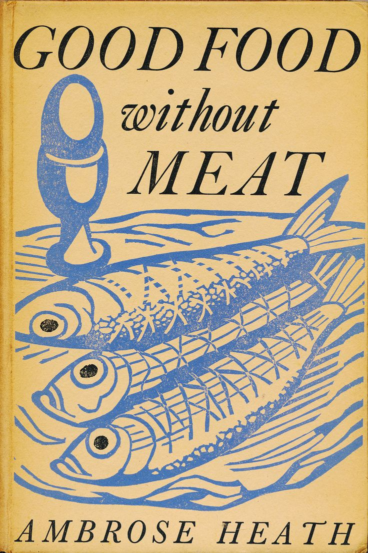 Edward Bawden Linocut design for the cover of Good Food Without Meat by Ambrose Heath
