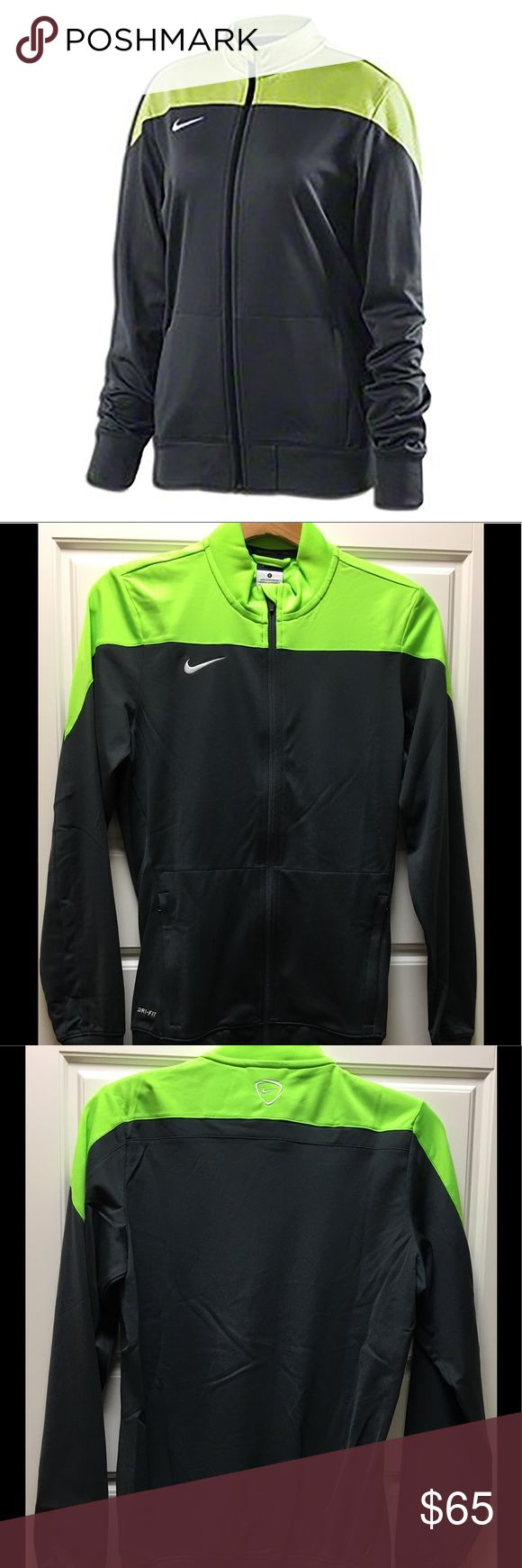 Nike Women's Squad 14 Sideline Knit Jacket Lightweight jacket for players and teams. Full-zip with stand-up collar (covered zipper at chin). Size pockets. Wide ribbed waist and cuffs. Embroidered Nike logo at chest and back neck. Polyester. Nike Jackets & Coats Utility Jackets