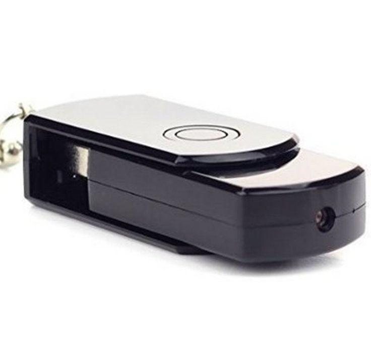 Mini Hidden Camera, eBoTrade Mini Disk Flash Driver Hd Digital Video Mic Spy Cam DVR USB Card Recoder (with 16GB SD Card)