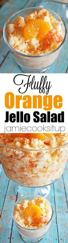 Fluffy Orange Jello Salad from Jamie Cooks It Up