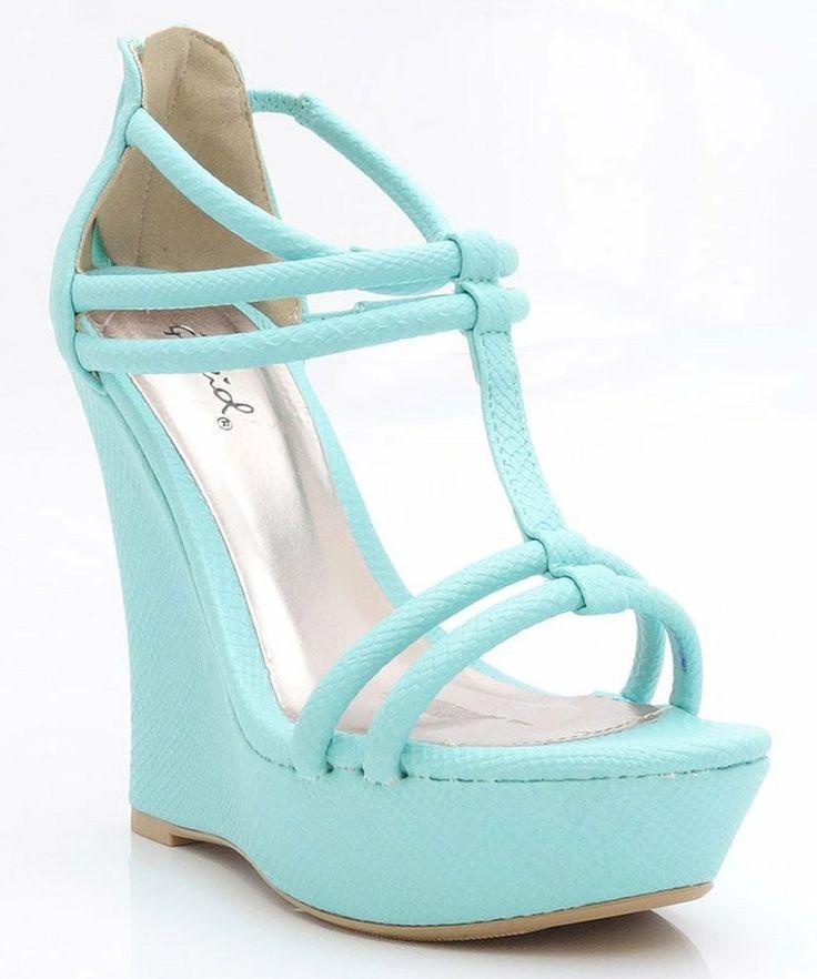 Tiffany Blue Wedges U003c3 So Pretty. Wedding WedgesAqua Wedding ShoesSnake ...