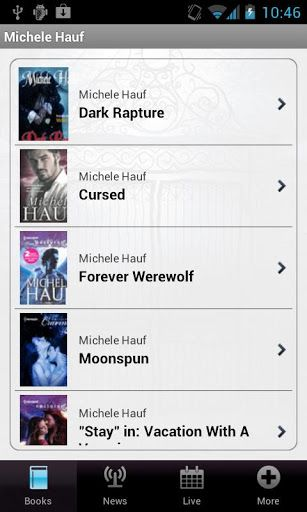 Welcome to Michele Hauf's Beautiful Creatures application.  If you love paranormal romance, this app compiles all the books Michele has written in her world of Beautiful Creatures, and also includes soon-to-be-released titles, along with excerpts and buy