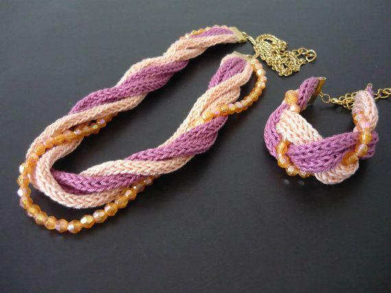 Set haak sieraden tricotin sieraden sieraden door MariAnnieArt