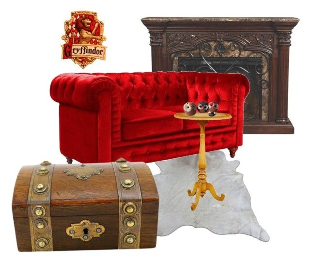 """Gryffindor inspired living room"" by hogwartsinspired on Polyvore featuring interior, interiors, interior design, home, home decor, interior decorating, Astoria and living room"