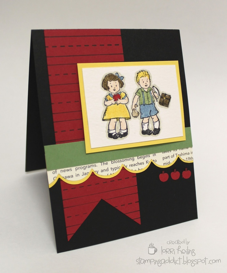 I'm partial to contrast. Stampin' Up! Greeting Card Kids