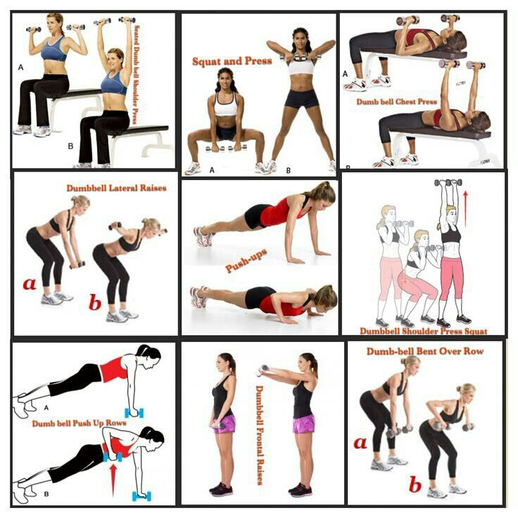Free Weights Printable Exercises: Simple Arm-workout With Weights