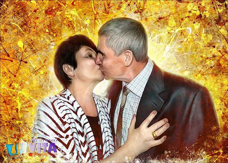 Любовь не живет три года,  Любовь не живет три дня, Любовь живет ровно столько, Сколько двое хотят, чтоб она жила.  Портрет в стиле Гранж