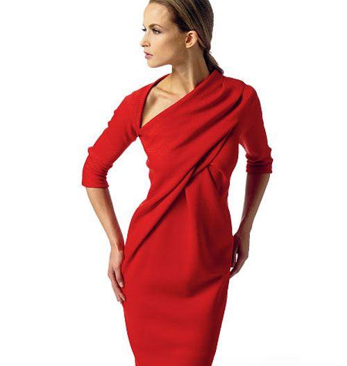 Выкройка Vogue — Платье с драпировкой - V1341 | Платья