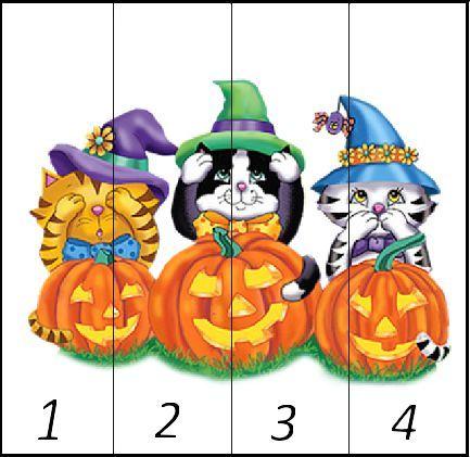 Skládání - počítání -Halloween