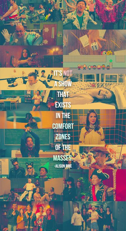 """Community   """"It's not a show that exists in the comfort zones of the masses."""" -Alison Brie"""