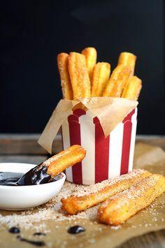 Чуррос, десерт из заварного теста, пошаговый рецепт с фото, кулинарный блог andychef.ru