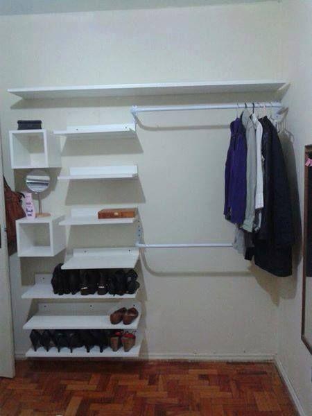 closet barato - ideias - closet de prateleiras                              …