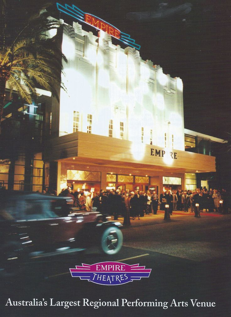 On Saturday, June 28th 1997, the Empire Theatre became Toowoomba's premier performing arts centre and a new era of entertainment and performing arts began on the Darling Downs.
