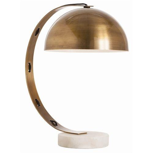 Bond Vintage Brass/Snow Marble Desk Lamp