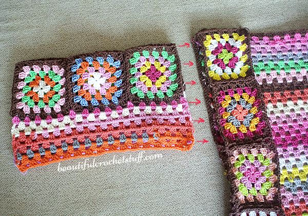 Granny Square Crochet Cardigan