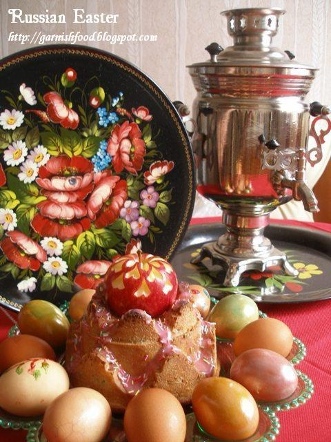 Fruit Carving Arrangements and Food Garnishes: Russian Easter, Kulich and Samovar