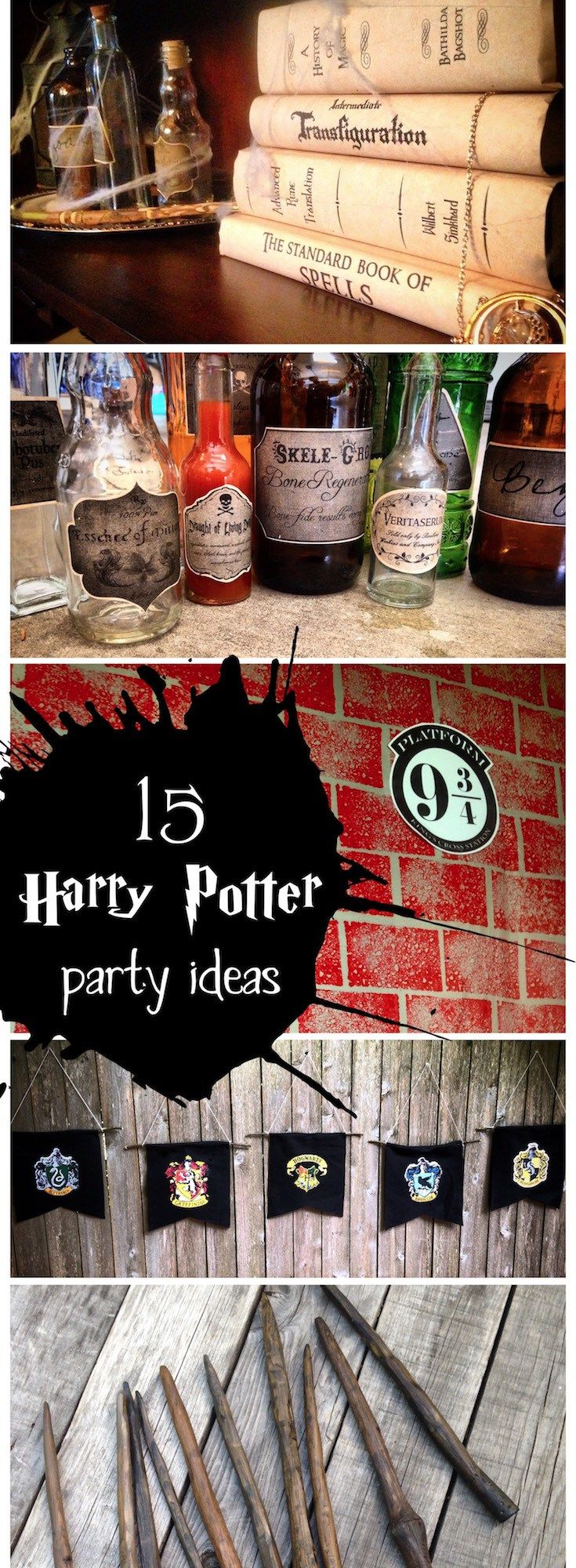 Harry Potter party ideas for easy decor. Throw an amazing Harry Potter
