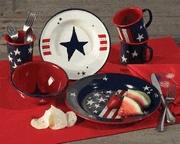 Patriotic Enamelware Dinnerware