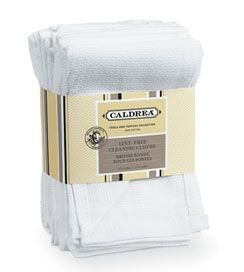 caldrea - 6 lint-free cleaning cloths : cotton