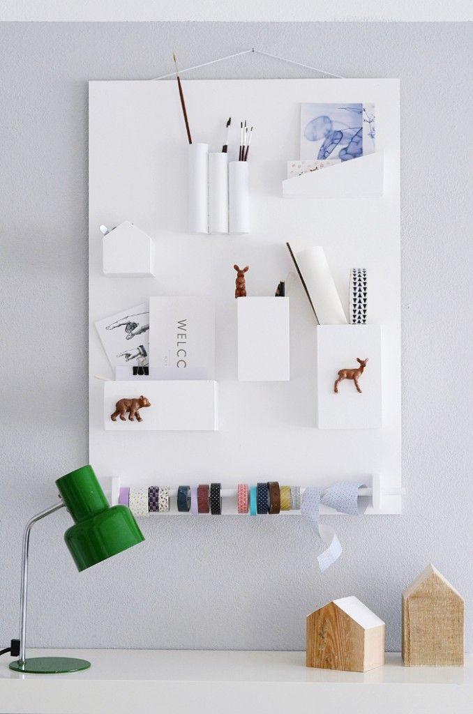 6 slimme en low-budget DIY's voor een opgeruimde werkplek - Roomed | roomed.nl