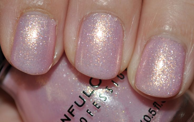 love this color ok with one coat but I do like 2 or more!  pp Sinful Colors nail polish in Glass Pink. Very pale pink with pretty shimmer, good formula but a little thick, looks best in 2 coats.