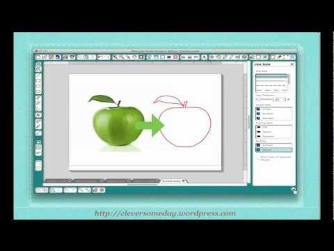 Tracing without Tears Part 1 of video series teaching the whys of getting your own images into cuttable format. How to avoid the double line problem.