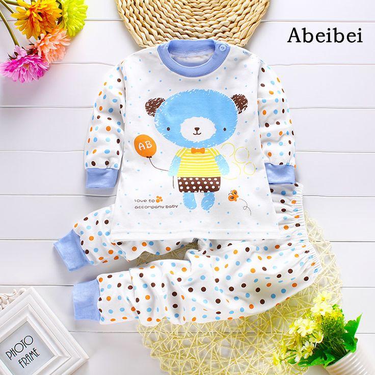 2 teile/satz Neugeborenen Kleidung Sets für 7-24 Mt kids pyjamas Kleidung 100% Baumwolle langarm basis shirt unterhemden pyjamas bears