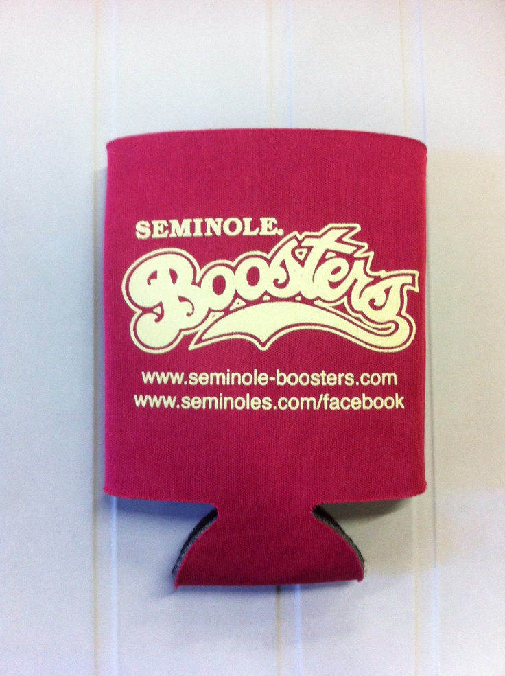 Watching the game this weekend?  We'll be keeping our drinks cold with these Seminole Boosters coozie.