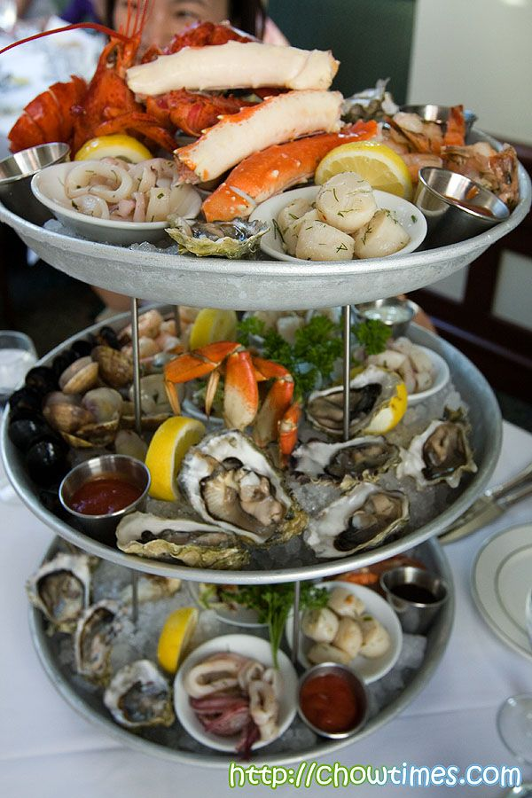 Seafood Tower On Ice Seafood Dishes Pinterest Nom