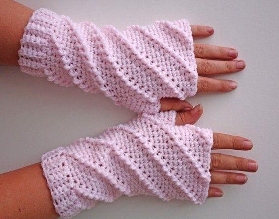 PATRÓN - guantes sin dedos de Crochet batida - envío internacional gratuito