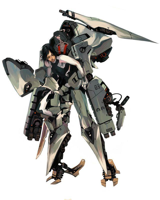 Mecha/powered exoskeleton/mobile suit