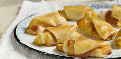 Receta La Salteña Pañuelitos de jamón y queso