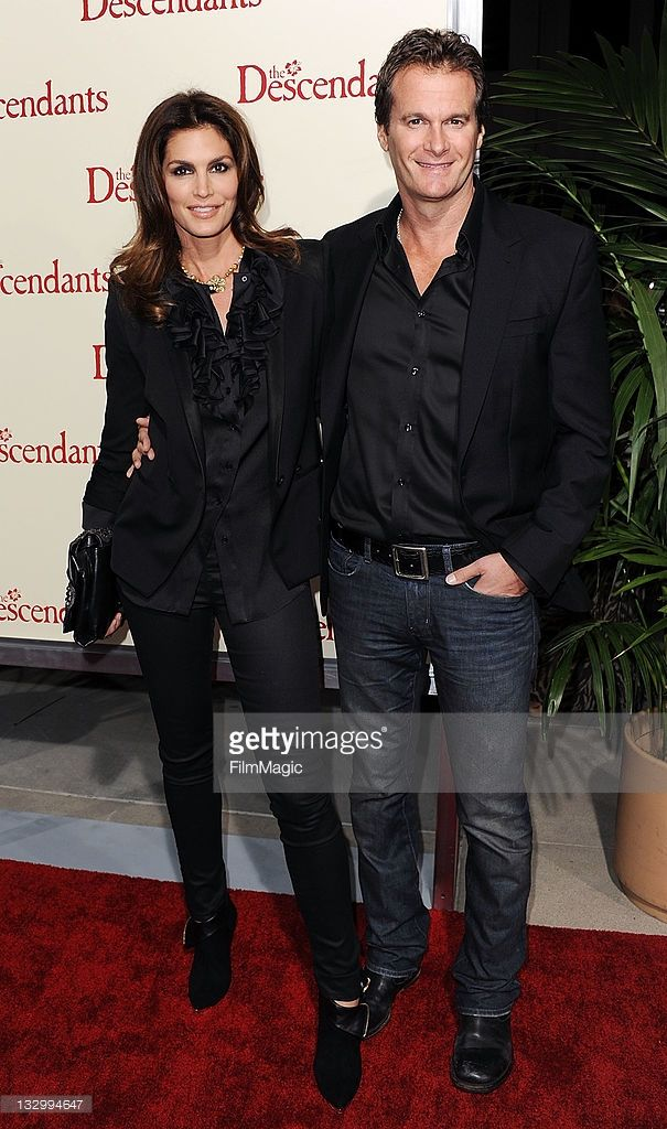 Cindy Crawford and husband Rande Gerber arrive at the Los Angeles Premiere 'The Descendants' at AMPAS Samuel Goldwyn Theater on November 15, 2011 in Beverly Hills, California.