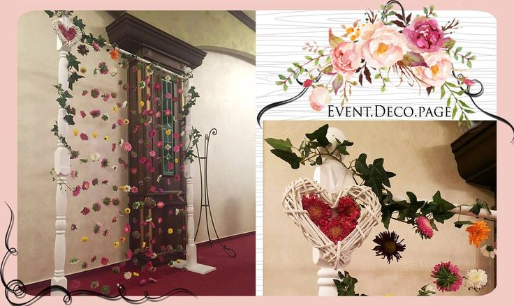 Flowers curtain by Event Deco. Find us on Facebook, Event.Deco.page!
