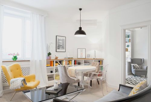 Butaca amarilla - Apartamento en Moscú • Sunny apartment in Moscow