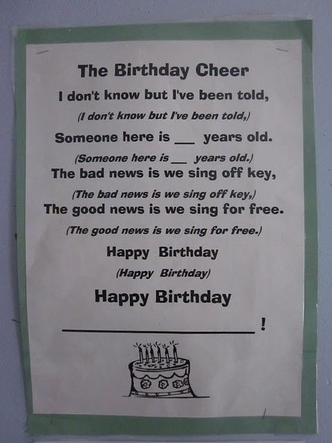 LOVE this happy birthday song! Totally teaching this to my kiddos! by Nadine01