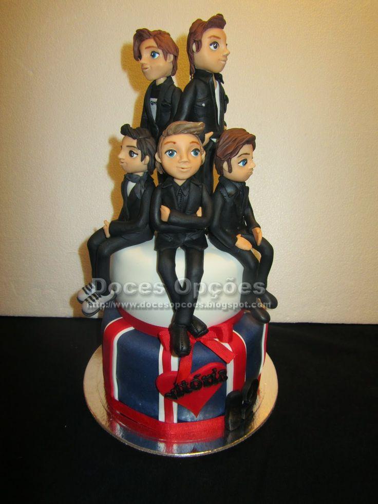 Doces Opções: Bolo de aniversário com os One Direction
