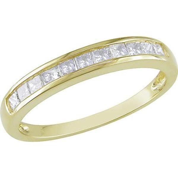 1/2 Carat Princess Cut Diamond 14kt Yellow Gold Semi Eternity Anniversary Ring #jpjewels8 #(M-W551960123) other seffer listilg