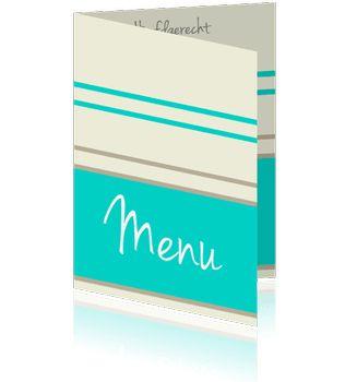 Een moderne menukaart zelf maken.