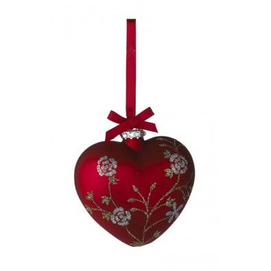 Ornament, Christmas Heart, red, from Lisbeth Dahl... This is going to look so great on my tree :)