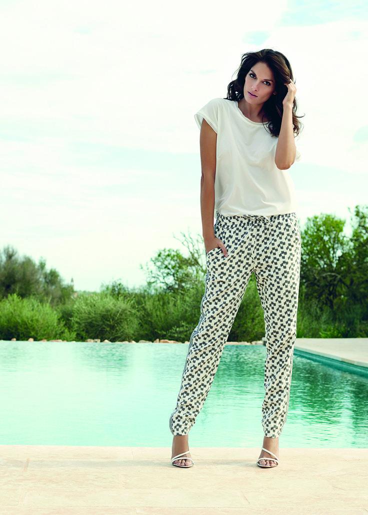 soyaconcept - top - blouse - pants - print - printetpants - grafic