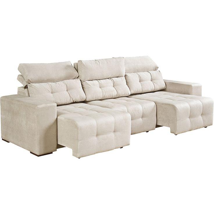 17 melhores ideias sobre sof bege no pinterest sof for Sofa zeus retratil e reclinavel