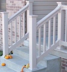 Would love nice stairs and stair rail on my front porch.  Something simple like this.
