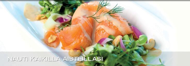 Seabuck-thorn marinated salmon is the speciality of Kalajoki Resort Bistro. http://www.kalajokiresort.fi/ravintolat/#