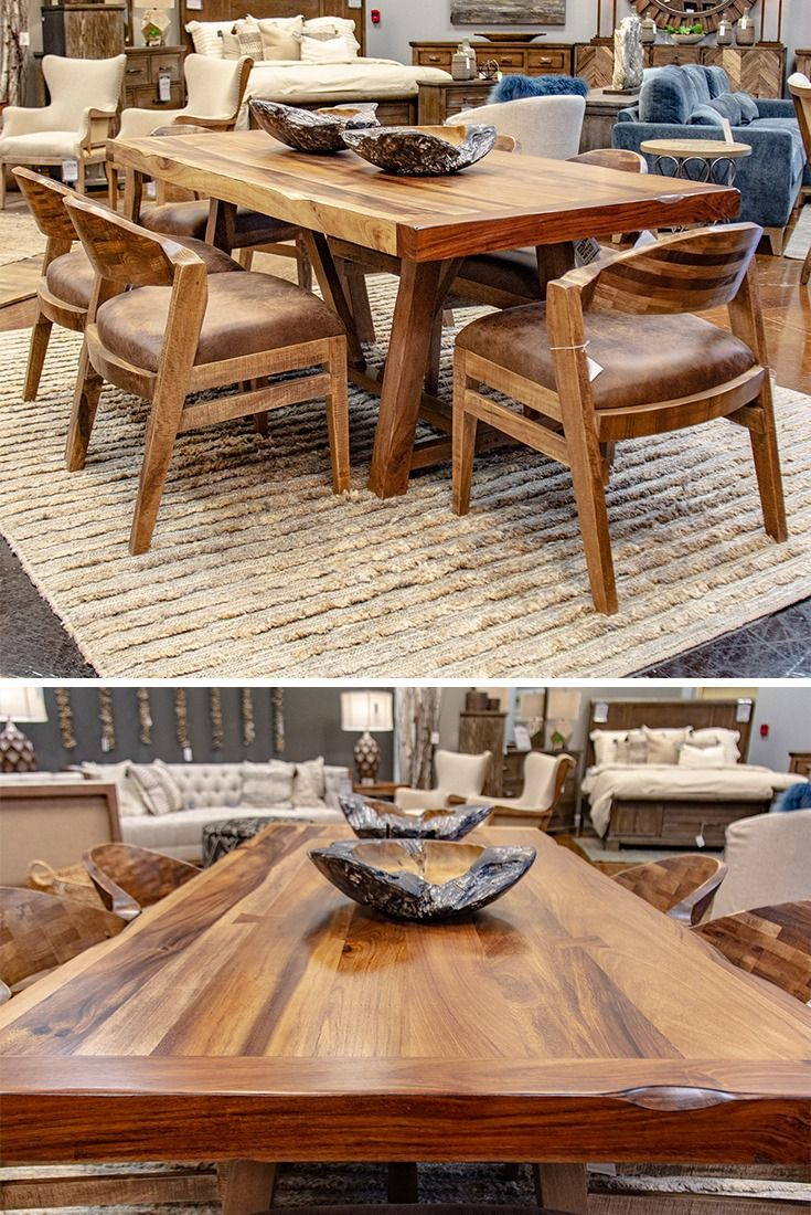 This Stunning Dining Group Adds Texture Style And Personality To Any Kitchen Or Dining Room Th Kitchen Table Settings Dining Room Table Set Furniture Direct