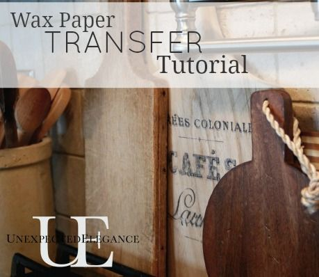 Wax Paper Image Transfer Tutorial. Transfer any image for pennies onto wood surfaces, painted surfaces, cloth...