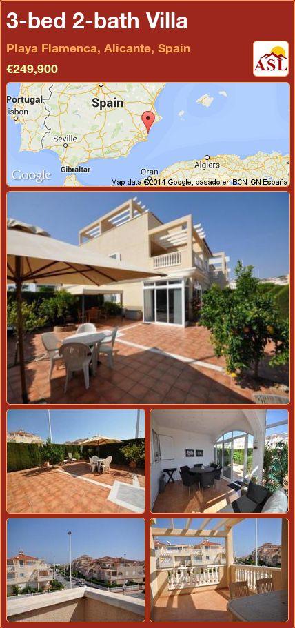 3-bed 2-bath Villa in Playa Flamenca, Alicante, Spain ►€249,900 #PropertyForSaleInSpain