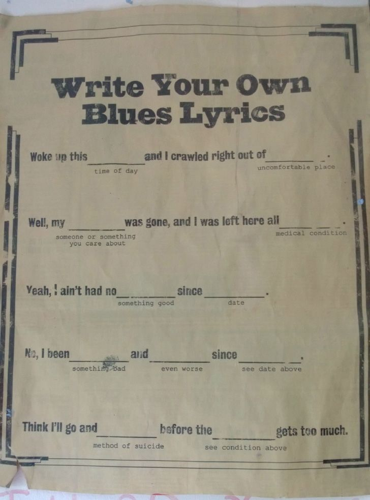write your own song lyrics 1 meaning to write your own songs lyrics by waylon jennings: verse 1 (w nelson): / c/g f c/g / you call us heathens with zero respect for.